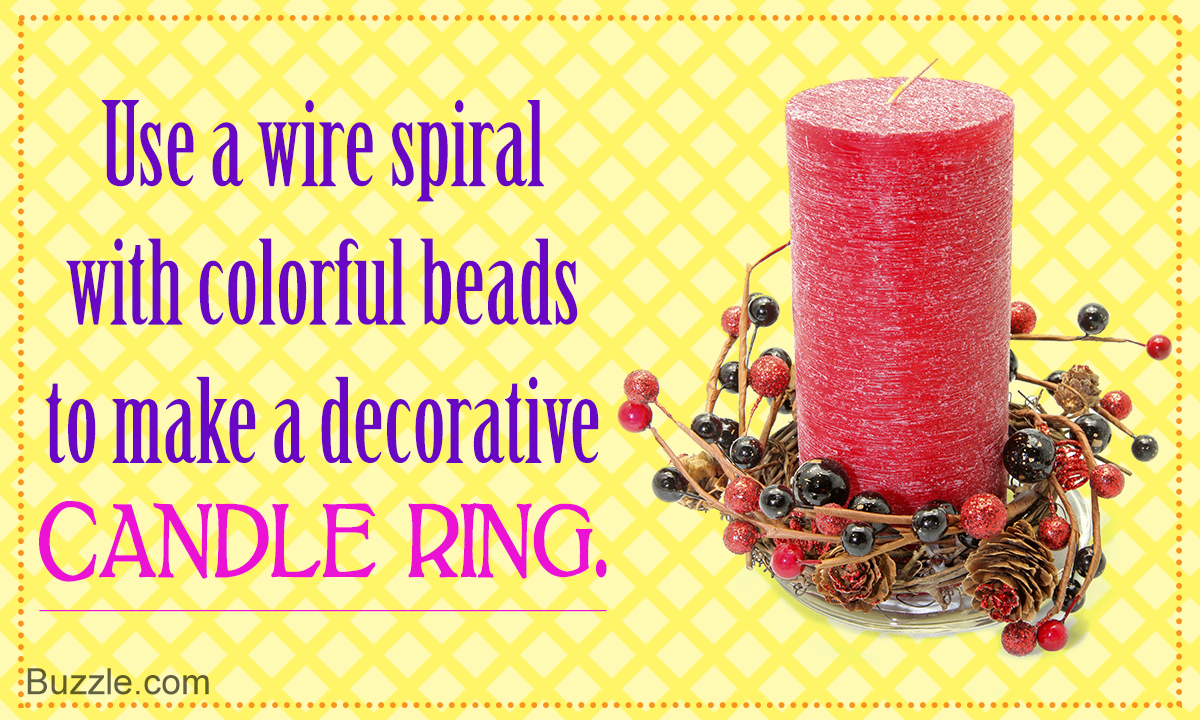 Learn How to Make Stunningly Beautiful Candle Rings Right Here