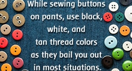 Ways to Sew a Button onto Pants