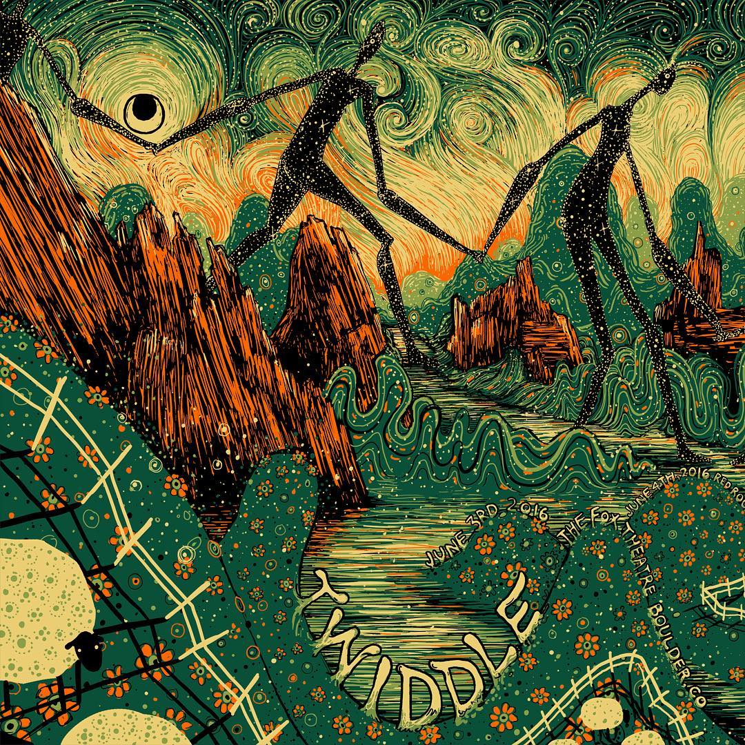 Nature-Inspired Swirling Illustrations by James R. Eads
