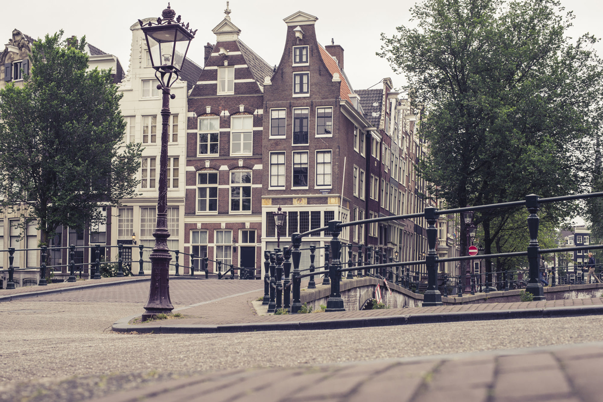 Street Walk Around Amsterdam
