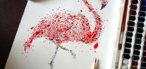 Animals Drawings from Hundreds of Multicolored Dots