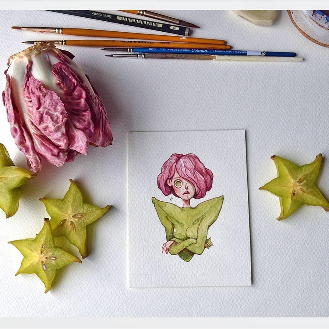 Bringing Fruits to Life – Watercolour Paintings by Marija Tiurina