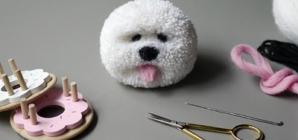 how to make a pom pom dog
