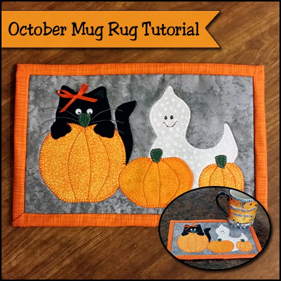Quilted Halloween Mug Rug Pattern