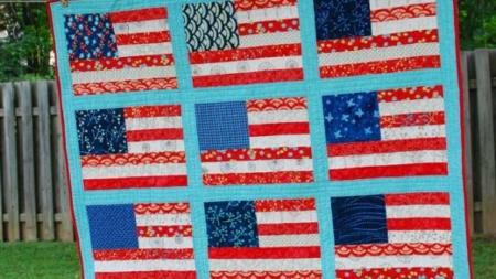 Patriotic Flag Quilt