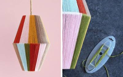 diy colourblock lamp