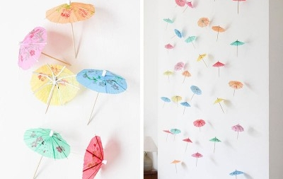 diy paper umbrella garland