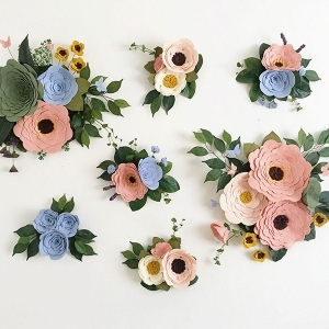 the perks of felt wall flowers
