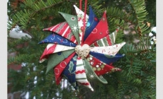 Tutorial Prairie Point Star Ornament