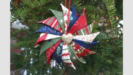 Tutorial Prairie Point Star Ornament