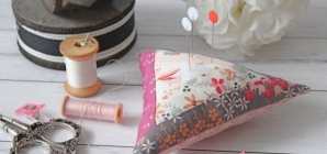 Quilting Project Log Cabin Pin Cushion