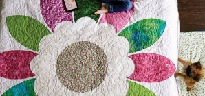 Quilting Tutorial – Floral Bed Quilt