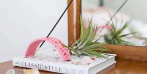 diy terrazzo-look incense holder