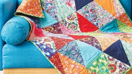 Tutorial – Triangle Wall Hanging Quilt
