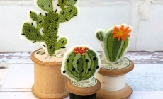 diy cotton reel cactus kit