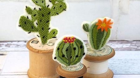diy cotton reel cactus kit