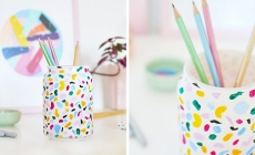 diy terrazzo pencil holder