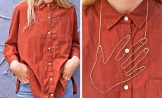 diy wire hand necklace
