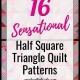 16 Sensational Half Square Triangle Quilt Patterns