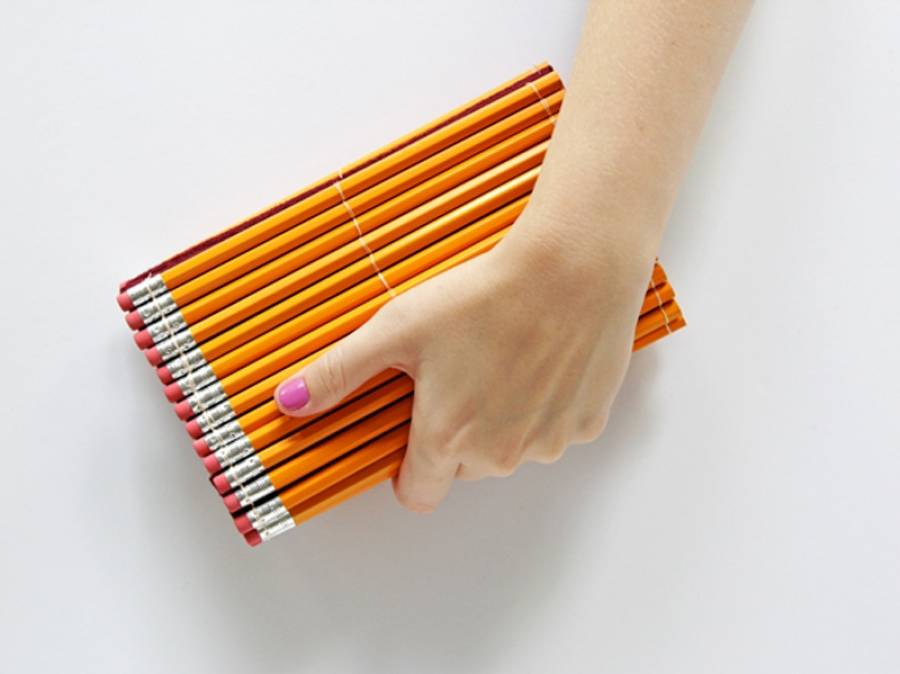 diy pencil clutch purse