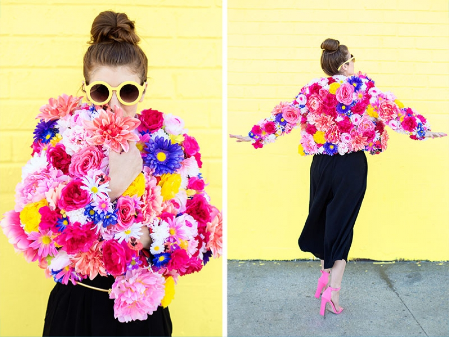 diy flower jacket