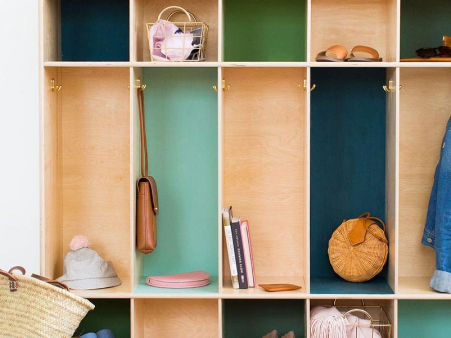 DIY storage block lockers
