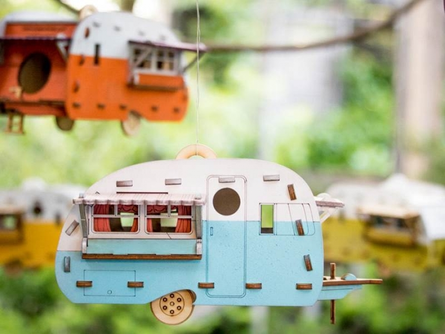 retro birdhouse camper kit