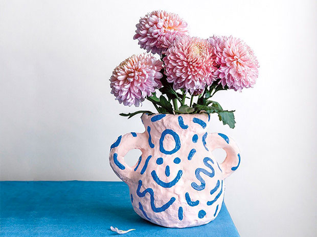 frankie exclusive diy: puff paint vase