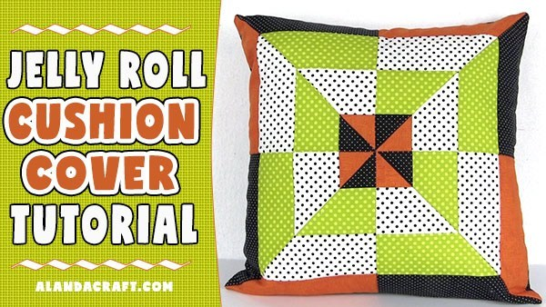 Jelly Roll Patchwork Cushion