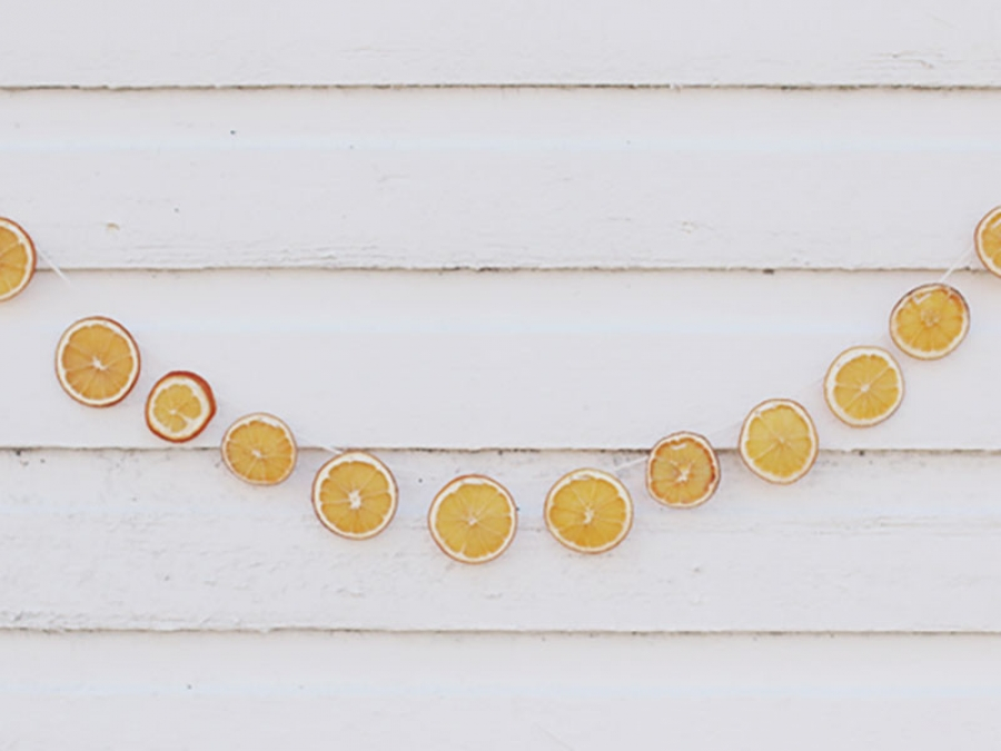diy orange garland