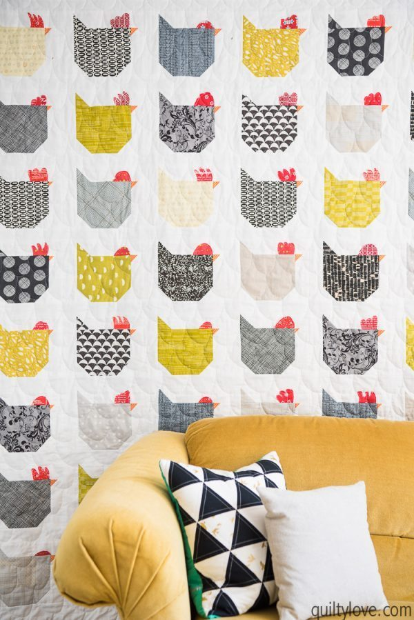 Free Quilt Pattern – Chicken Blocks