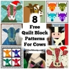 Quilting Block Patterns – Cows