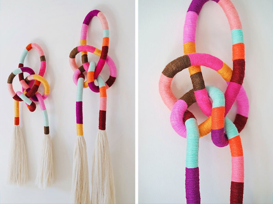diy knotted wall hanging