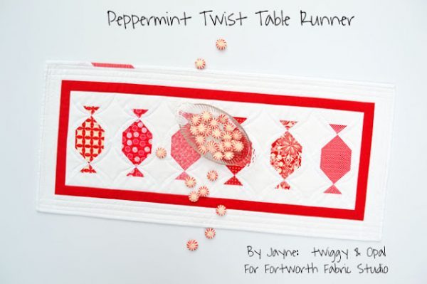 Quilting Pattern – Peppermint Twist Table Runner