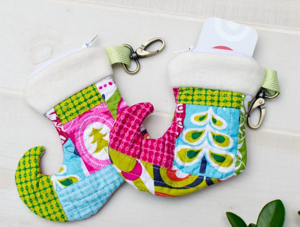 Christmas Stocking Zipper Pouch Tutorial