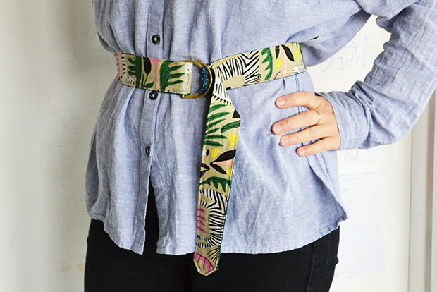 frankie exclusive diy: fabric belt