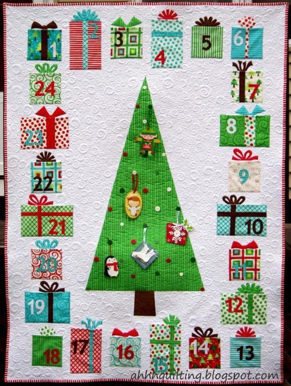 Etsy Feature – Advent Calendar Quilt Pattern