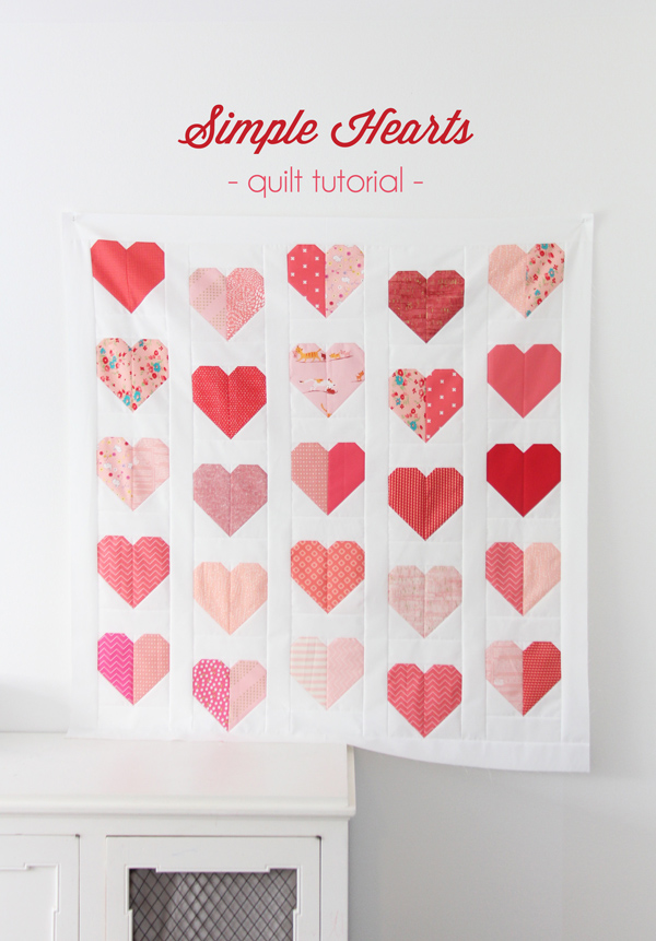 Free Quilt Pattern – Valetine's Day Hearts