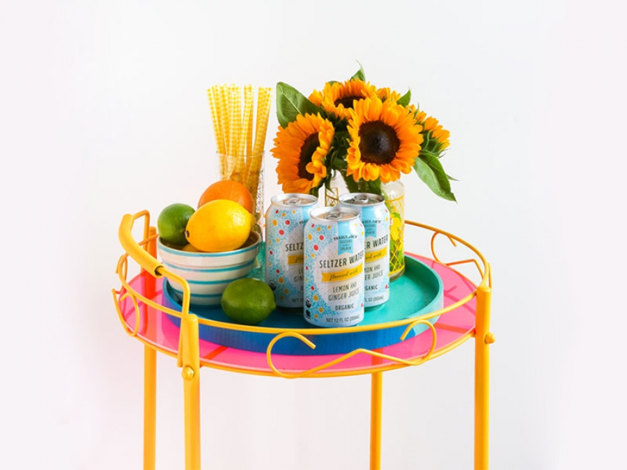 how to zhuz up an old bar cart