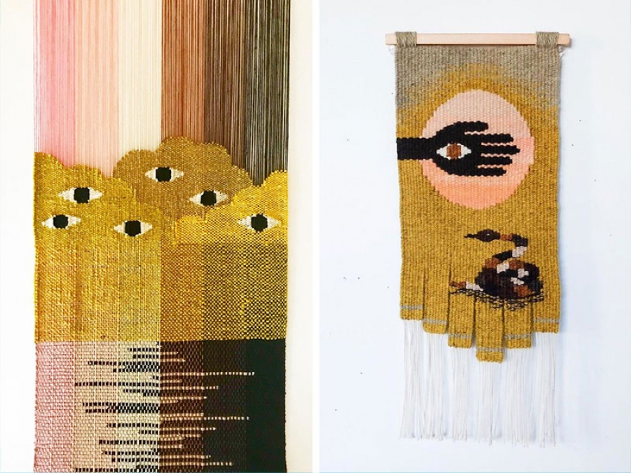 modern weavings by natalie novak