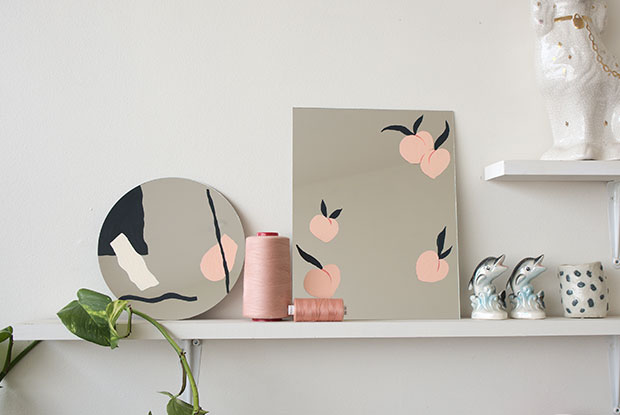 frankie exclusive diy: painted mirror