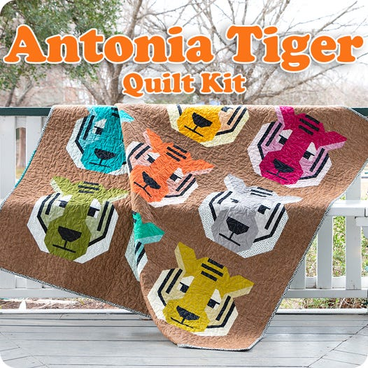 Tiger King – Tiger Quilt Kit