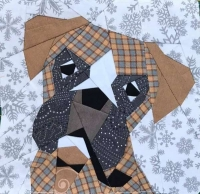 Quilt Pattern – Boxer dog Quilt Block Pattern