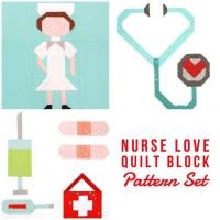 Quilt Pattern – Nurse Frontline Hero Quilt Block Pattern