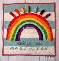 Quilt Pattern – Rainbow banner