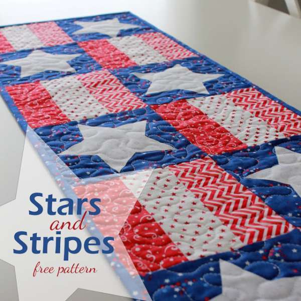 Stars and Stripes table runner -Free PDF Pattern