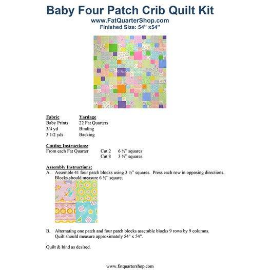 Quilting Pattern – Baby Four Patch Crib Free PDF Pattern