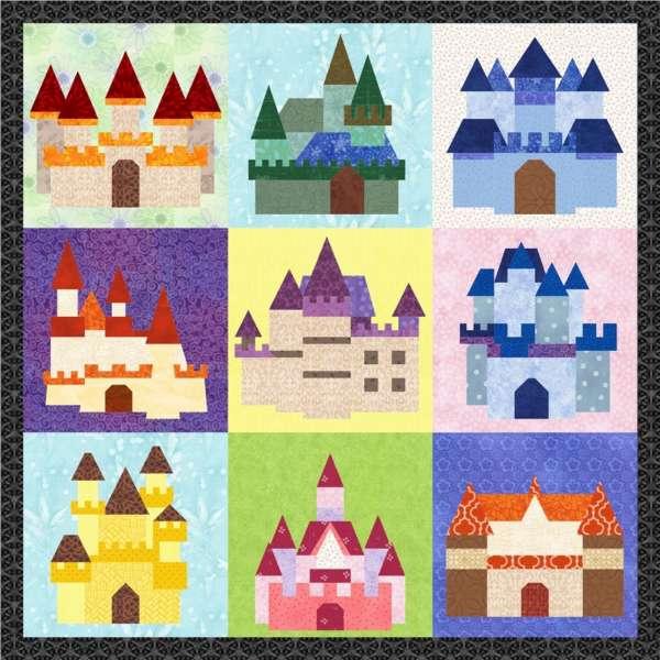 Fairy Tale Castles – 9 Quilt Block Pattern