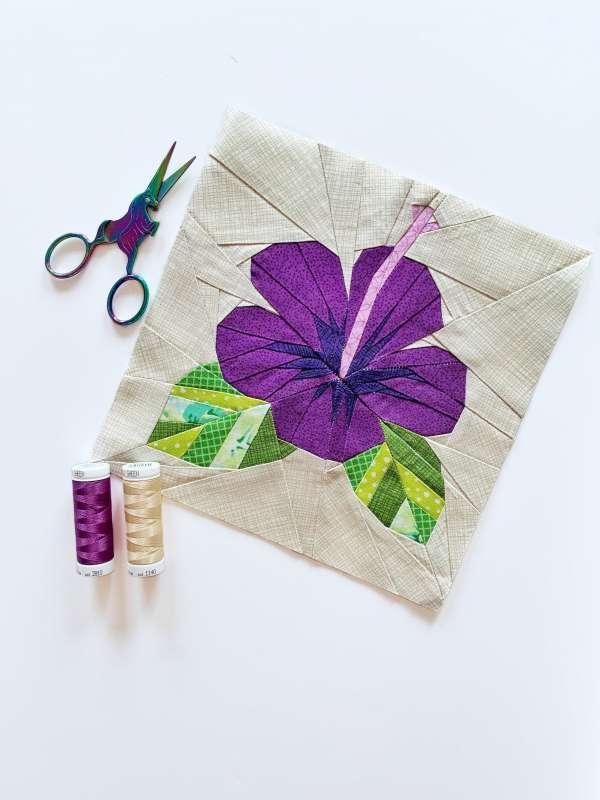 Quilt Pattern – Hibiscus Quilt Block Pattern