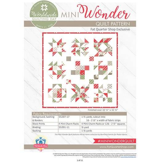 Mini Wonder Quilt Free PDF Pattern